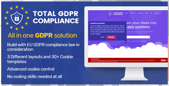 total gdpr compliance wordpress plugin banner - 5+ Best WordPress GDPR Compliance Plugins