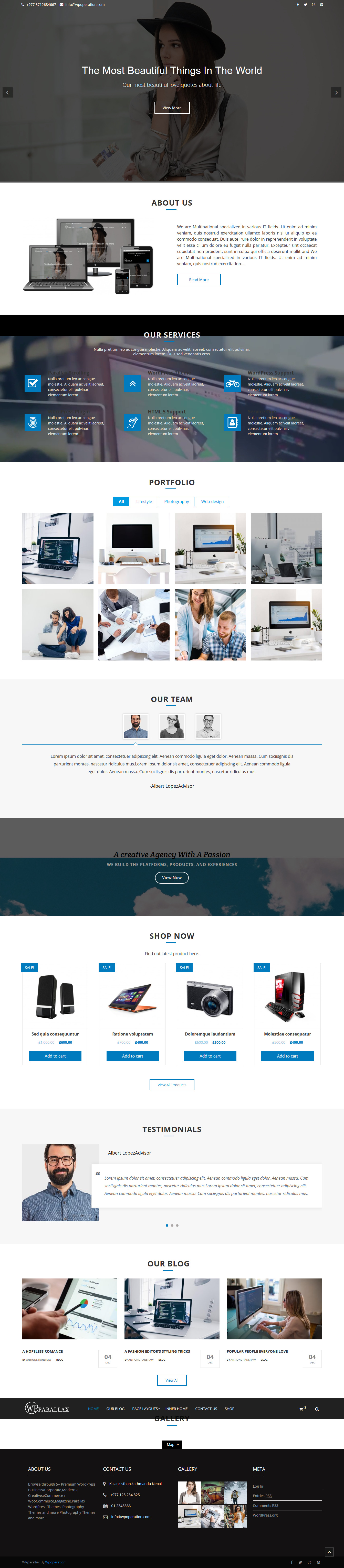 wpparallax best free parallax wordpress themes - 10+ Best Free Parallax WordPress Themes and Templates