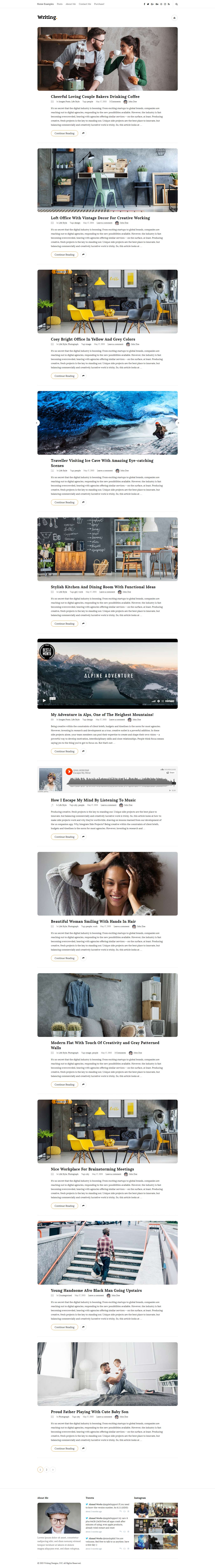 writing blog best premium responsive wordpress theme - 25+ Best Responsive WordPress Themes and Templates (Premium Collection)
