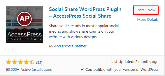 Add social share button4 1 - How to add a social share button on WP website using Social Share WordPress Plugin?