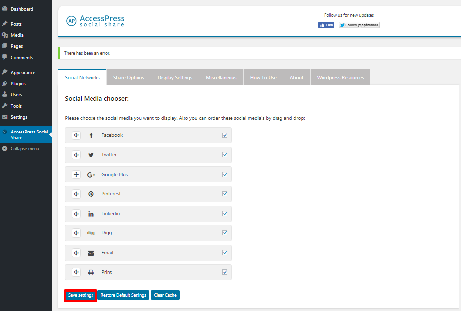 Add social share button8 - How to add a social share button on WP website using Social Share WordPress Plugin?