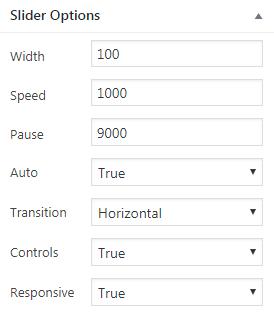 Adding slider in WP using WP1 Slider