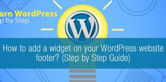 How to add a widget on your WordPress website footer