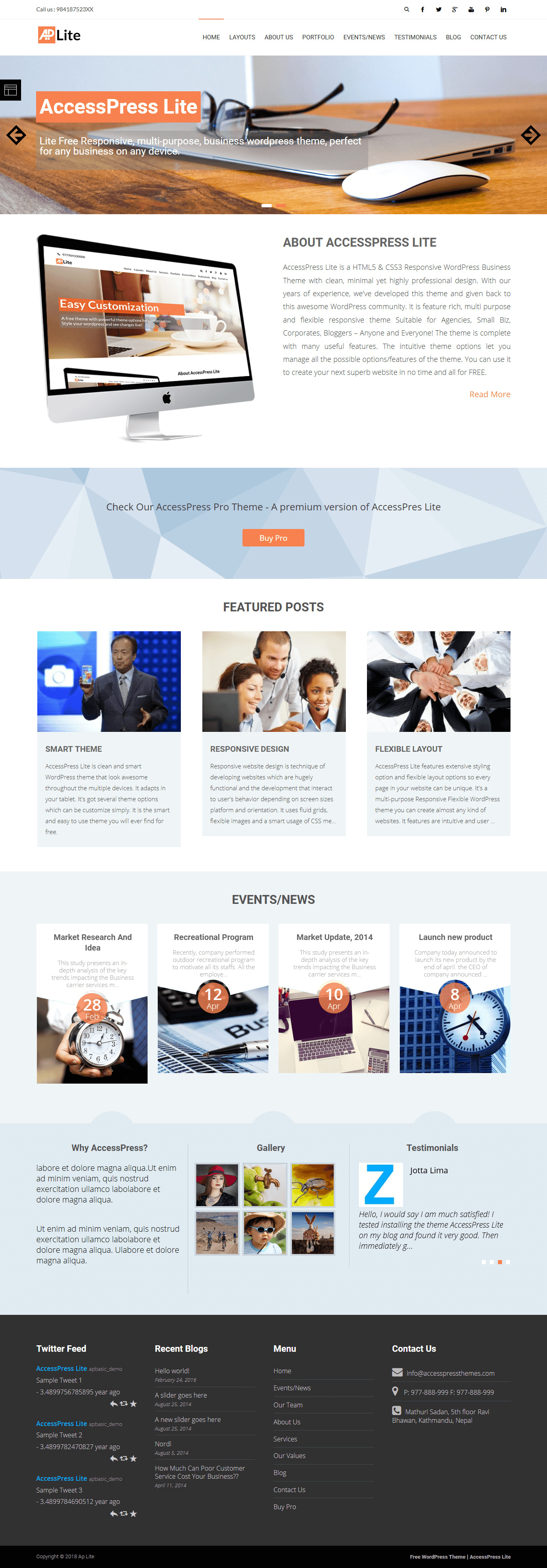 AccessPress Lite - Best Free Multipurpose WordPress Theme