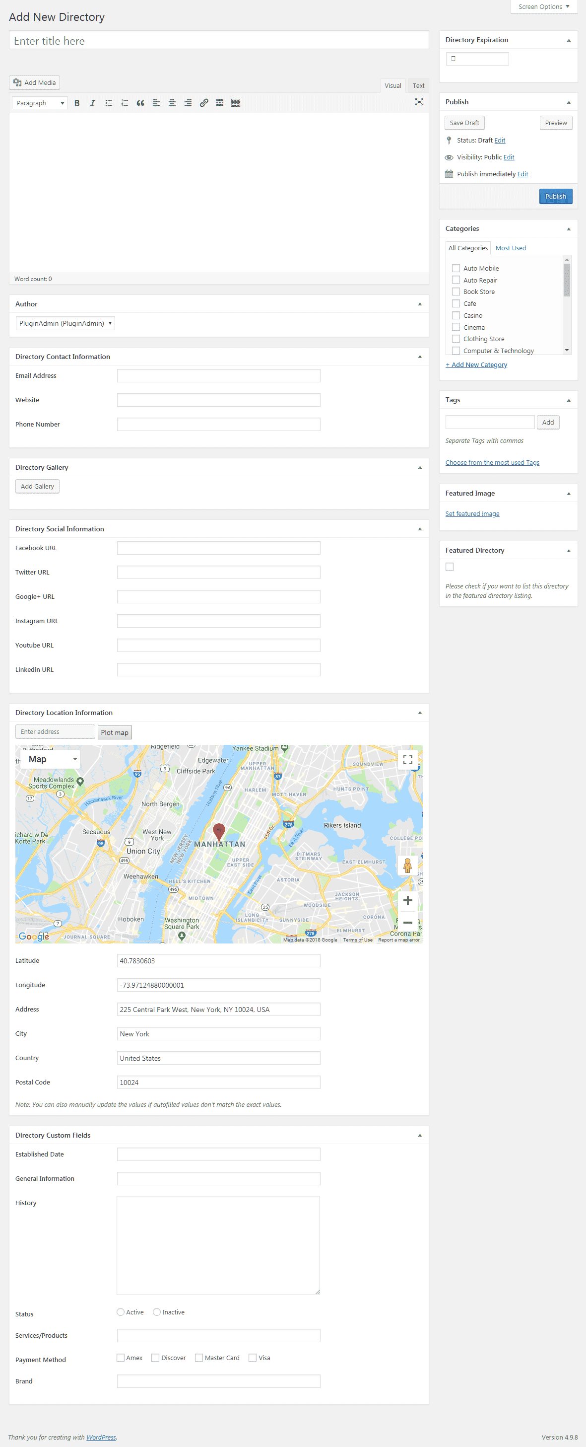 add new directory page - How to create Business Directories in your WordPress Website? (Step by Step Guide)