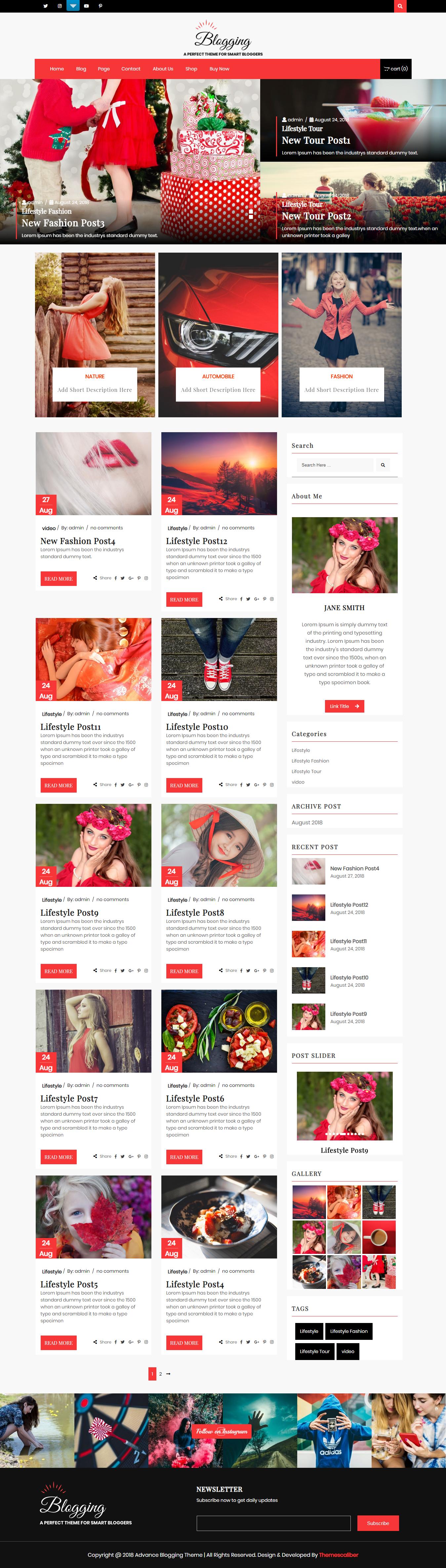 advance blogging best free minimal wordpress theme - 10+ Best Free Minimal WordPress Themes