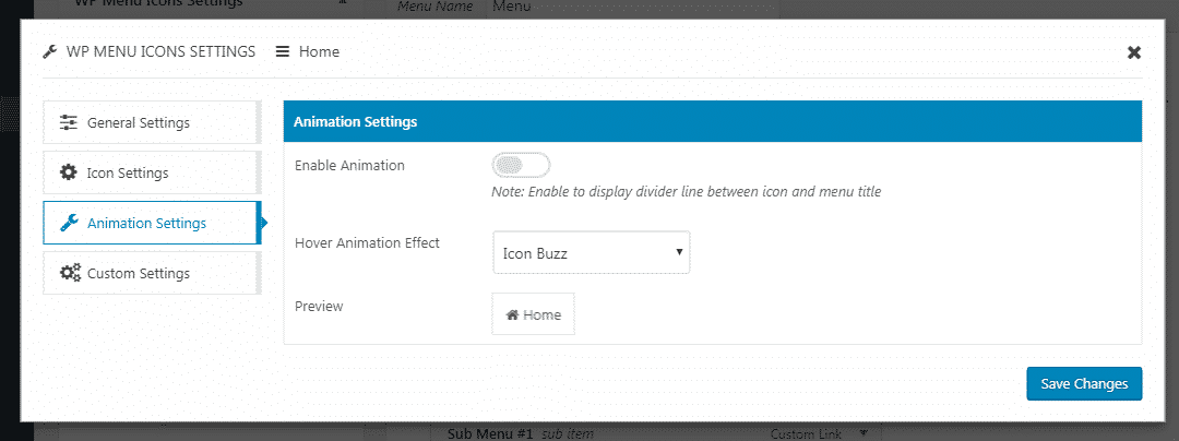 animation settings - How to Add Custom Icons in your WordPress Menu? (Step by Step Guide)