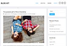 Blog Kit - Free Minimal Blog WordPress Theme