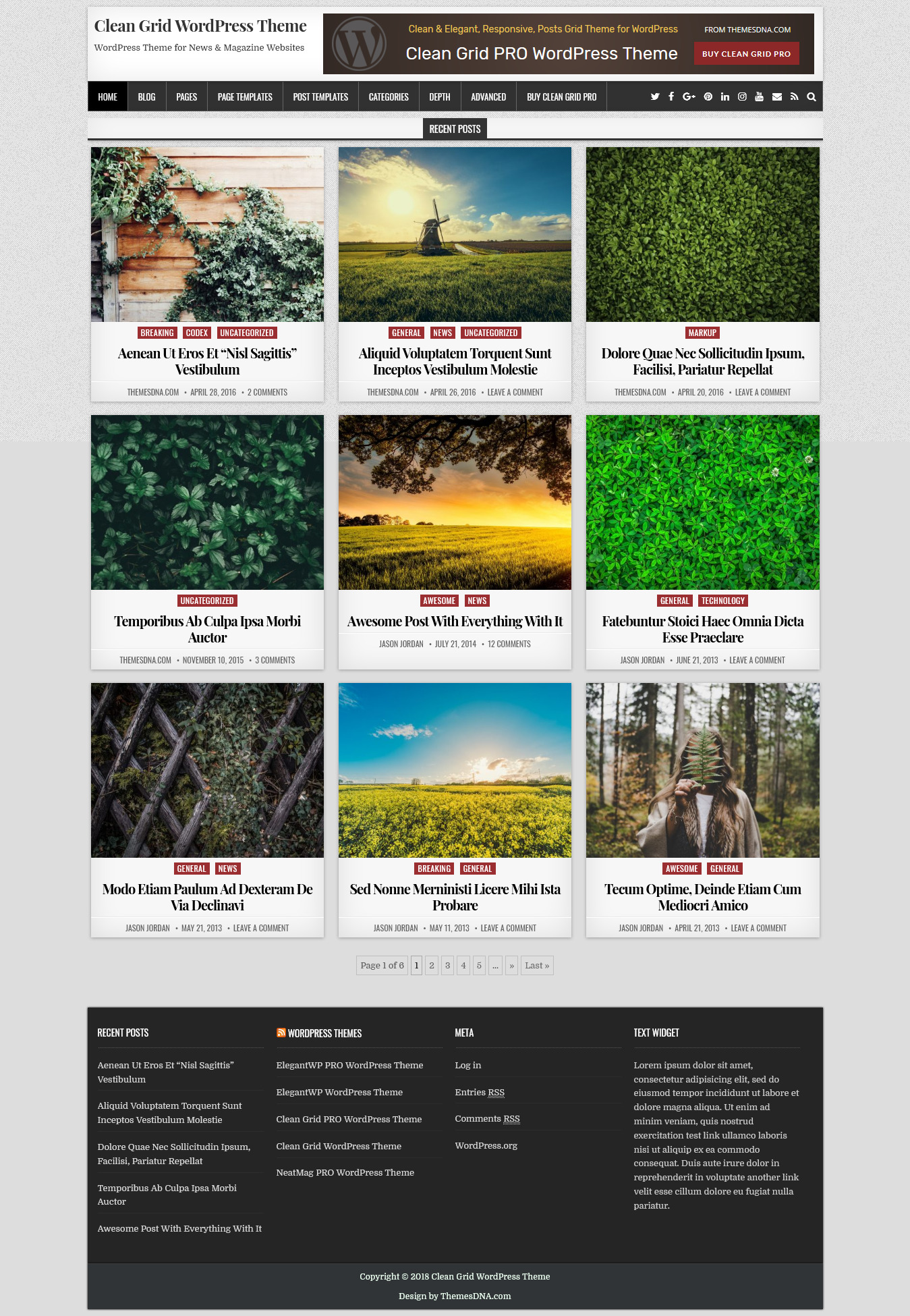 clean grid best free minimal wordpress theme - 10+ Best Free Minimal WordPress Themes