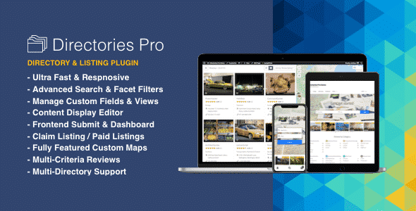Best WordPress Business Directory Plugin: Directories Pro