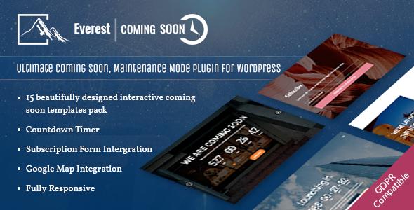 everest coming soon - 5+ Best Coming Soon & Maintenance Mode Plugins for WordPress