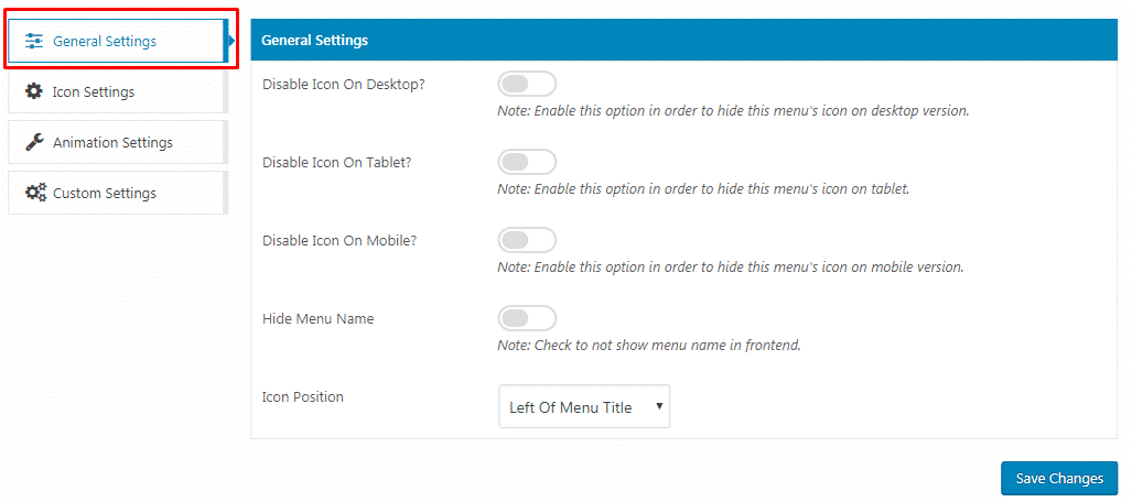 general settings - How to Add Custom Icons in your WordPress Menu? (Step by Step Guide)