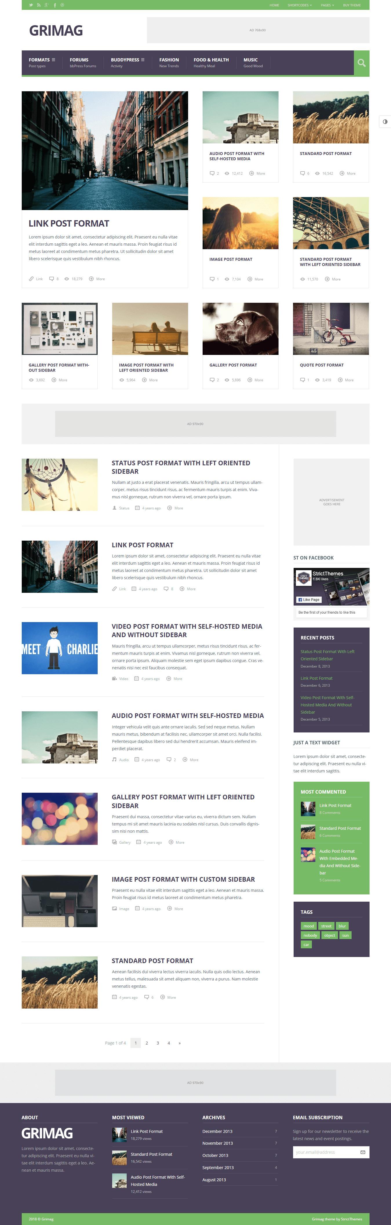 Grimag - Best Premium Adsense Optimized WordPress Theme
