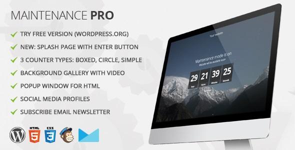 maintenance pro - 5+ Best Coming Soon & Maintenance Mode Plugins for WordPress