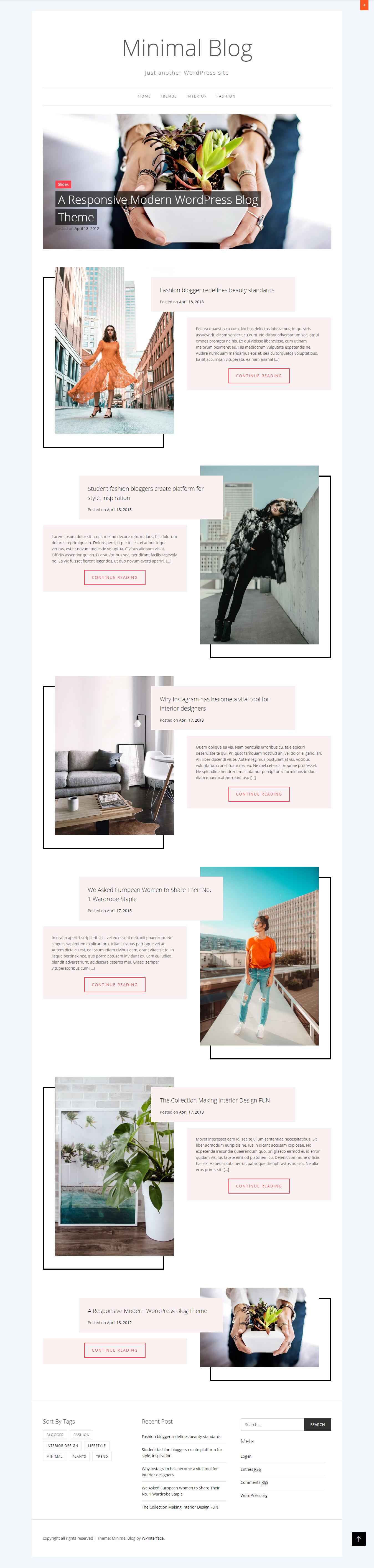 Minimal Blog - Best Free Minimal WordPress Theme
