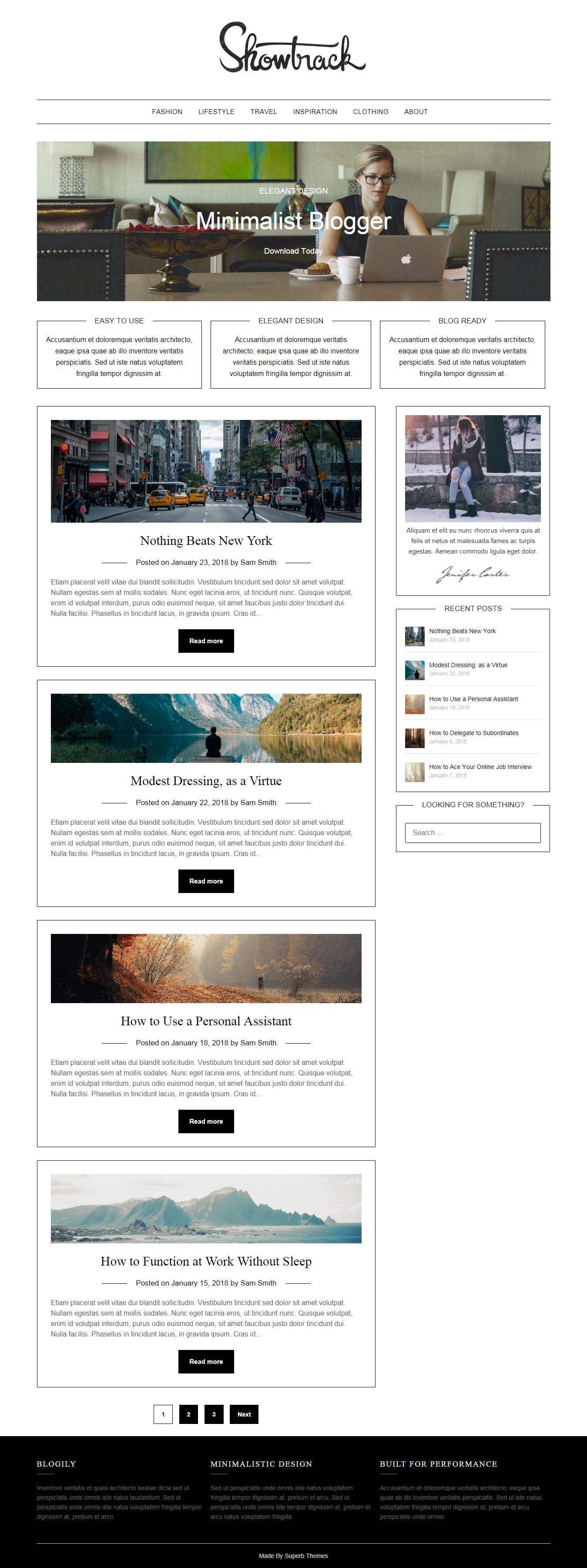 minimalist blogger best free minimal wordpress theme - 10+ Best Free Minimal WordPress Themes