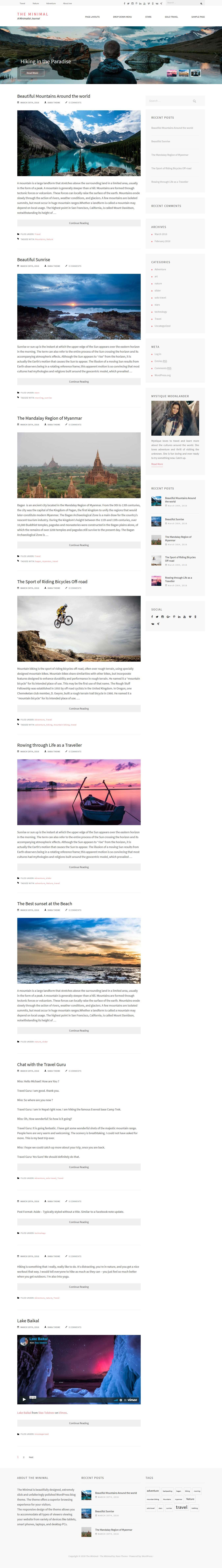 the minimal best free minimal wordpress theme - 10+ Best Free Minimal WordPress Themes