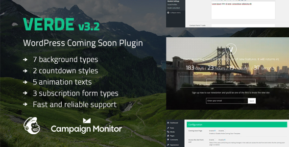 verde - 5+ Best Coming Soon & Maintenance Mode Plugins for WordPress