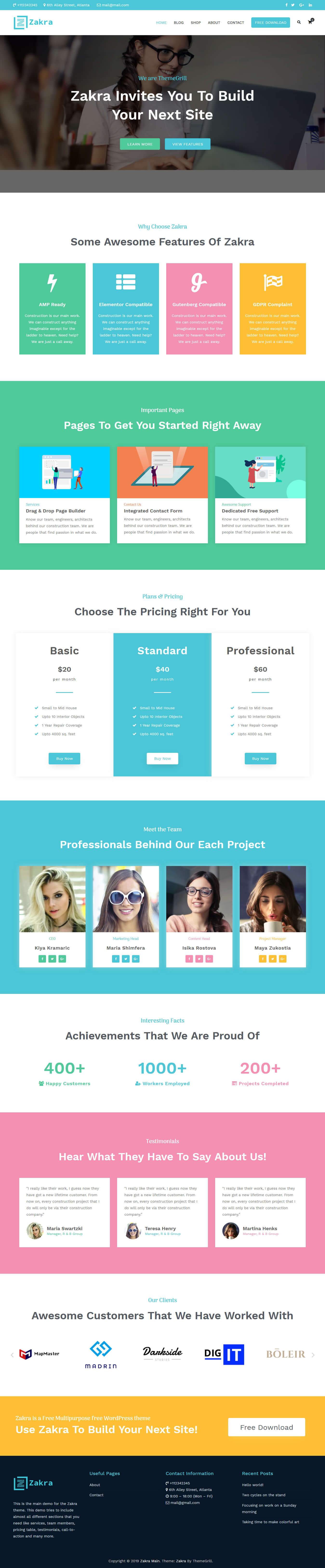 Zakra - Best Free Multipurpose WordPress Theme
