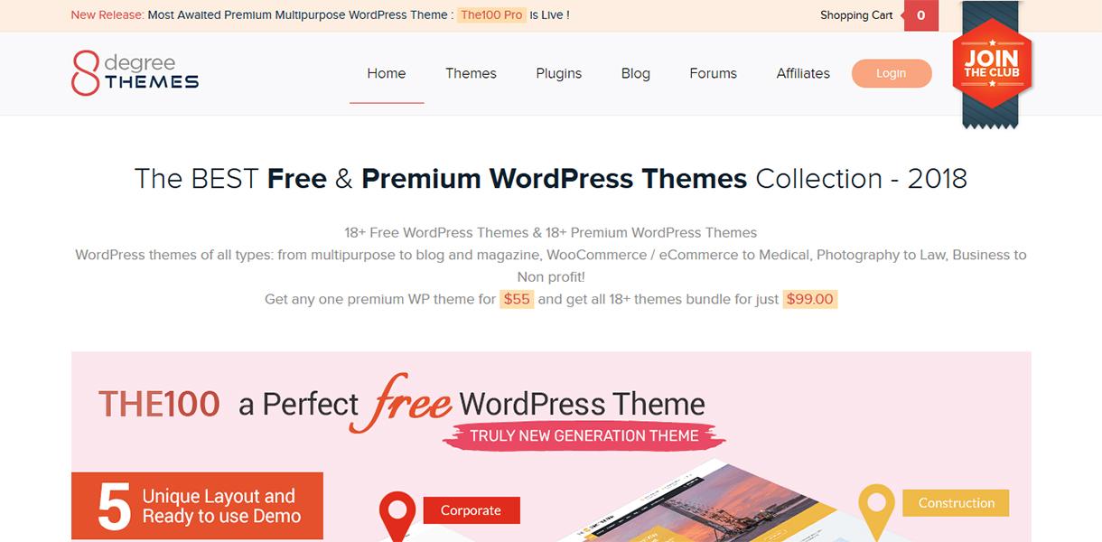 8degreethemes blackfriday cybermonday deals - Best Black Friday & Cyber Monday Deals and Discounts on WordPress Themes, Plugins and Hostings 2018 (Upto 50% Off)