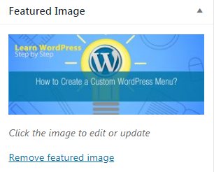 Adding Featured Image in WordPress.