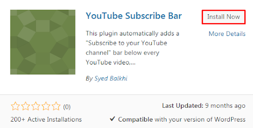 Adding Youtube Subscribe Button in WP