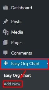 Create company org chart in WordPress.