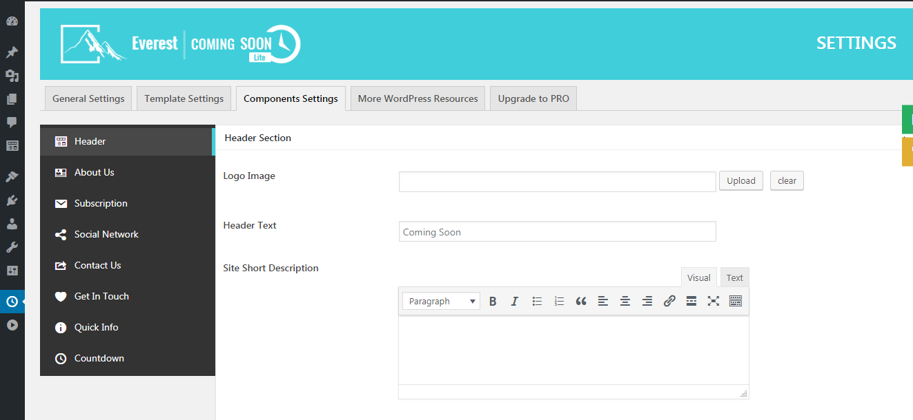 Creating beautiful coming soon page using Everest Coming Soon Lite