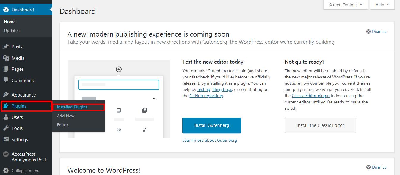 Deactivating a WordPress Plugin