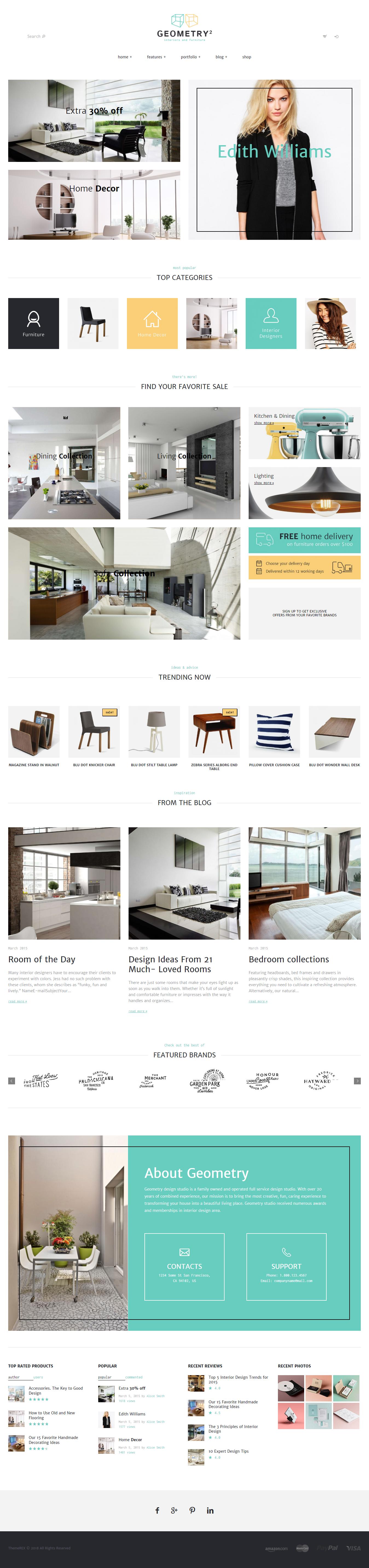 Geometry Best Premium Interior Design WordPress Theme - 10+ Best Premium Interior Design WordPress Themes