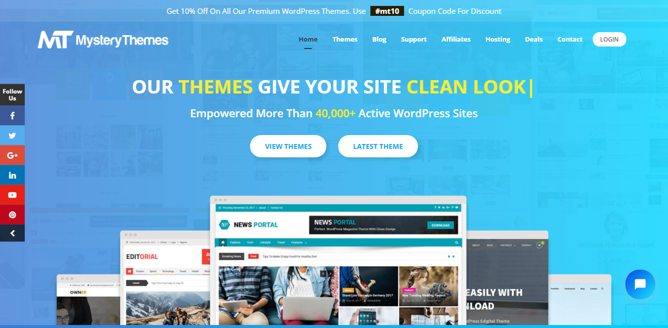 Mystery Themes Free and Premium WordPress Themes 1 - Best Black Friday & Cyber Monday Deals and Discounts on WordPress Themes, Plugins and Hostings 2018 (Upto 50% Off)
