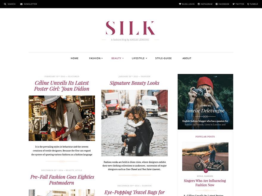 Silk Lite - WP fashion theme