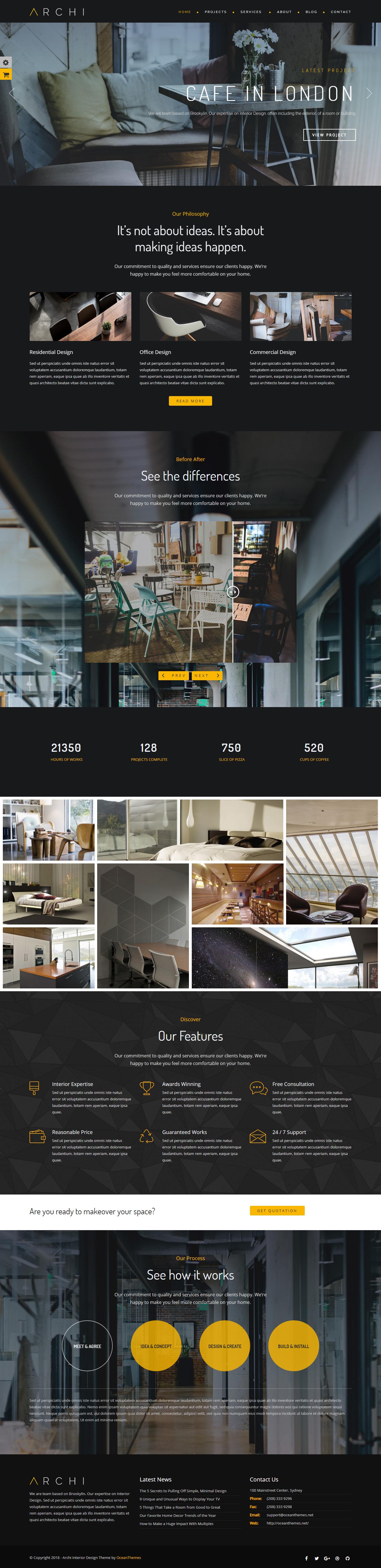 archi best premium interior design wordpress theme - 10+ Best Premium Interior Design WordPress Themes