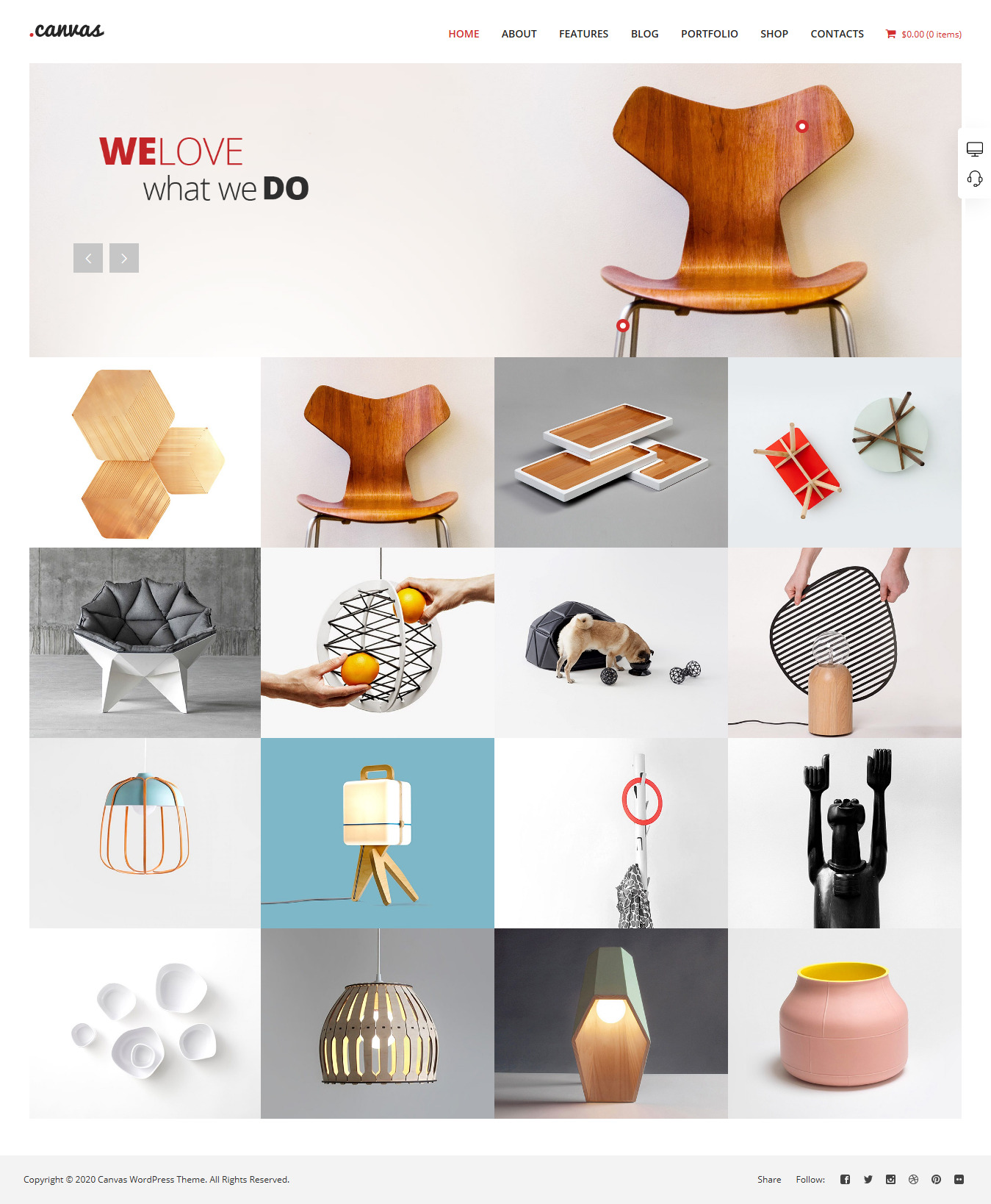 canvas best premium interior design wordpress theme 1 - 10+ Best Premium Interior Design WordPress Themes