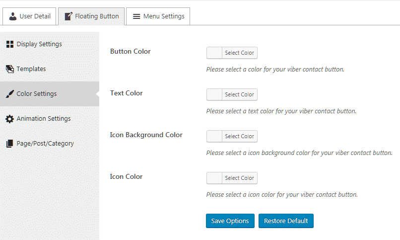 color settings - How to add Viber/Messenger/Whatsapp/Skype Contact Button on WordPress website? (Step by Step Guide)