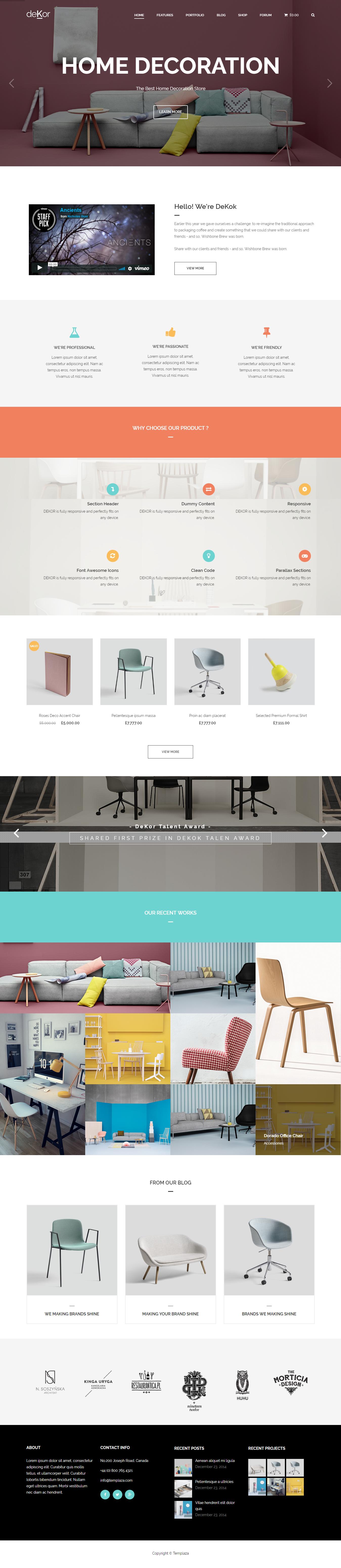 deKor best premium interior design wordpress theme - 10+ Best Premium Interior Design WordPress Themes