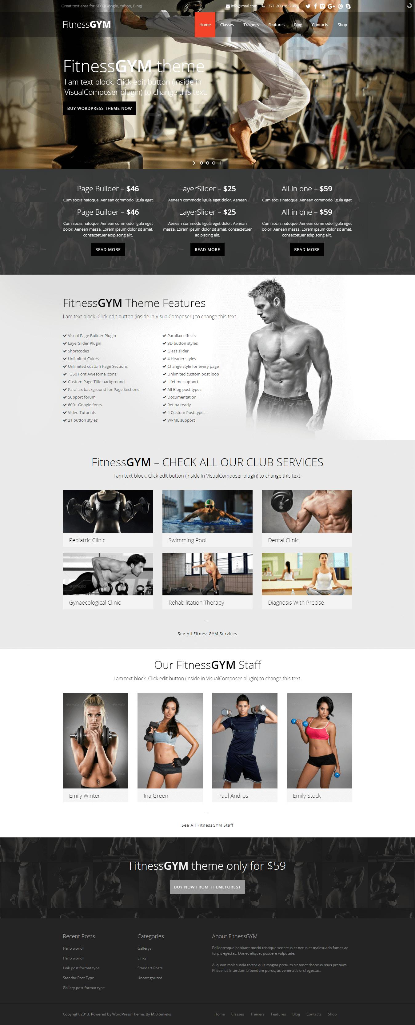 fitnessgym best premium sports wordpress theme - 10+ Best Premium Sports WordPress Themes