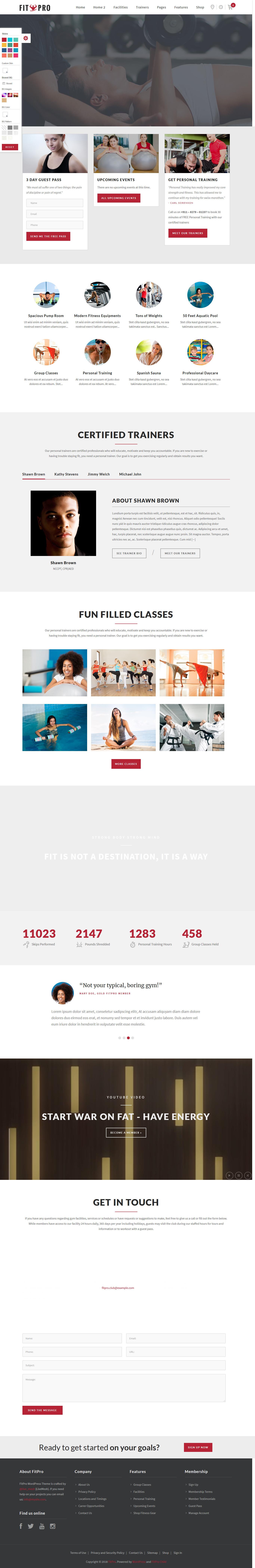 fitpro best premium sports wordpress theme - 10+ Best Premium Sports WordPress Themes