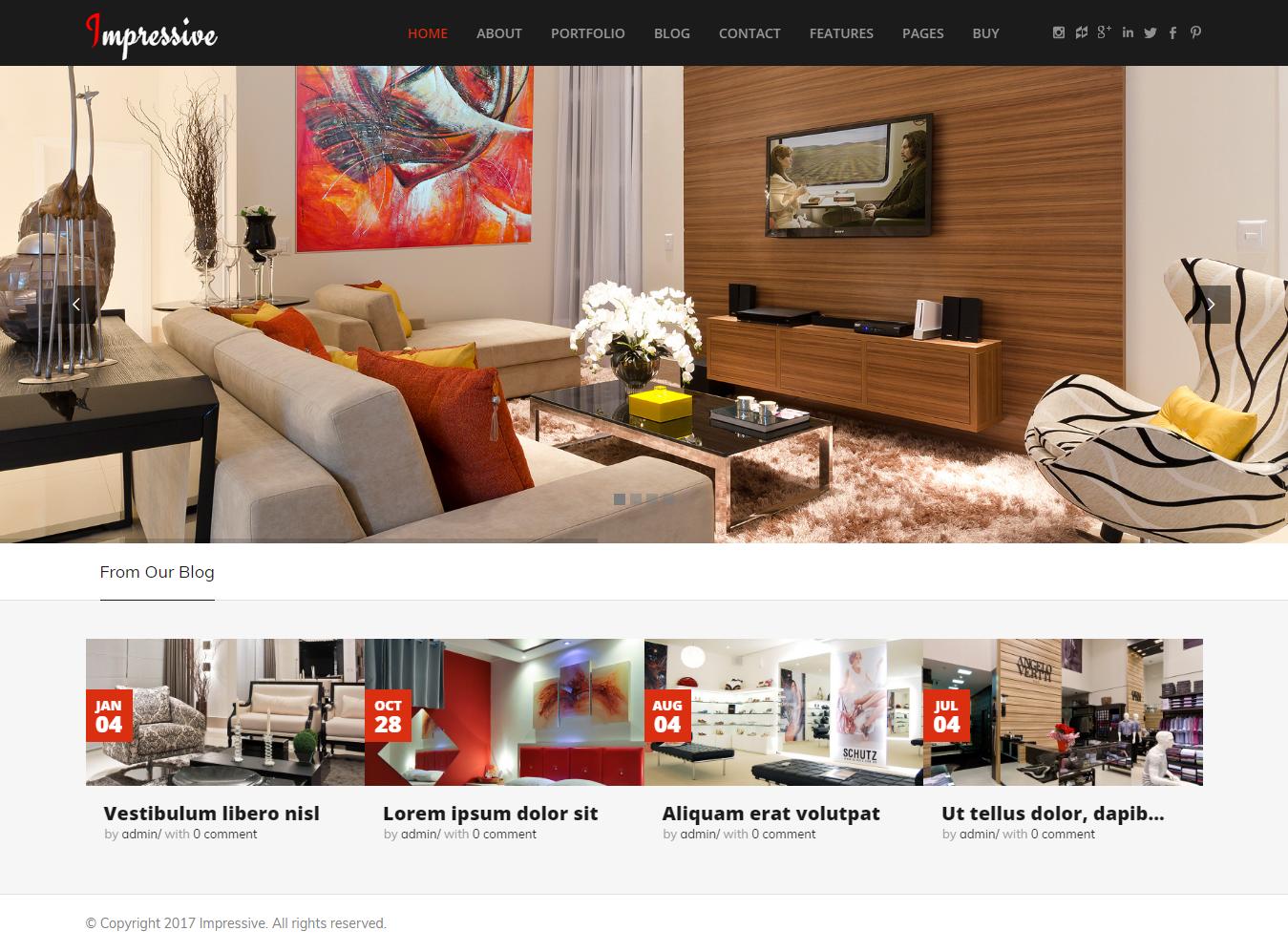 Impressive - Best Premium Interior Design WordPress Theme