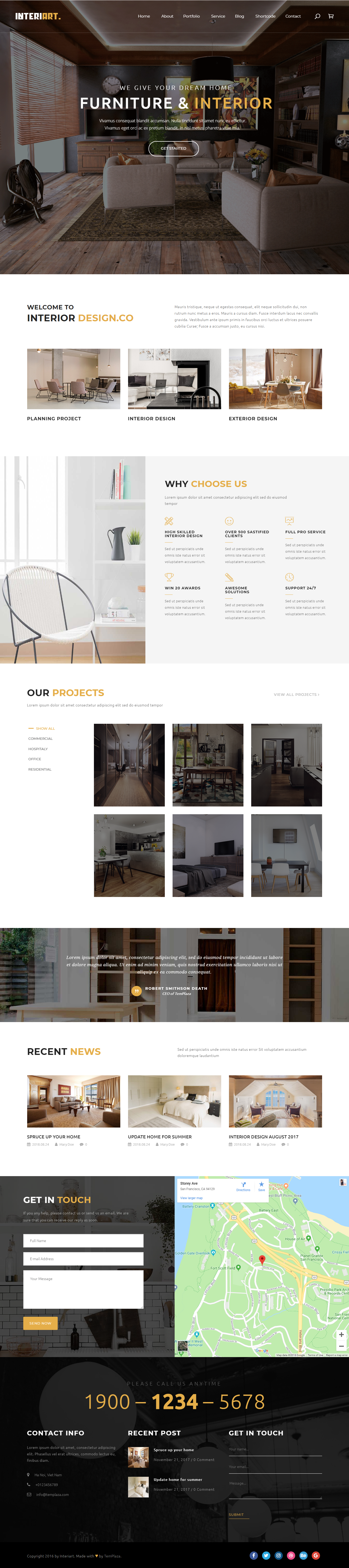 Interiart - Best Premium Interior Design WordPress Theme