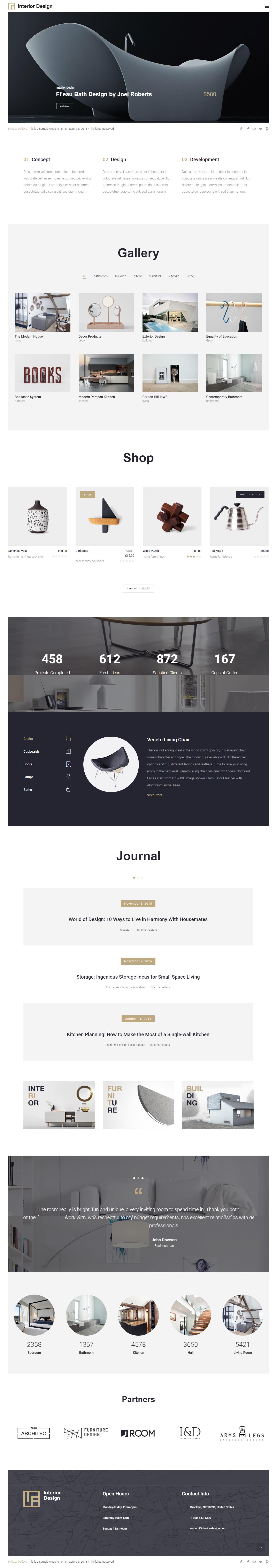 Interior Design - Best Premium Interior Design WordPress Theme