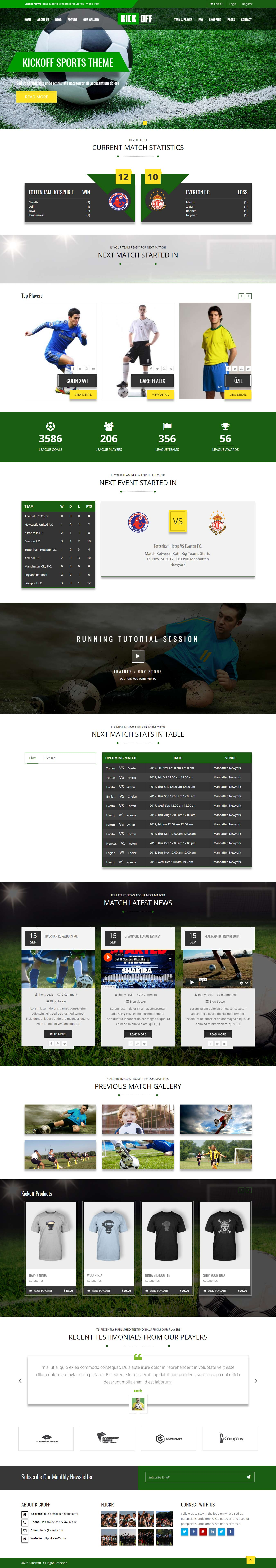 kickoff best premium sports wordpress theme - 10+ Best Premium Sports WordPress Themes