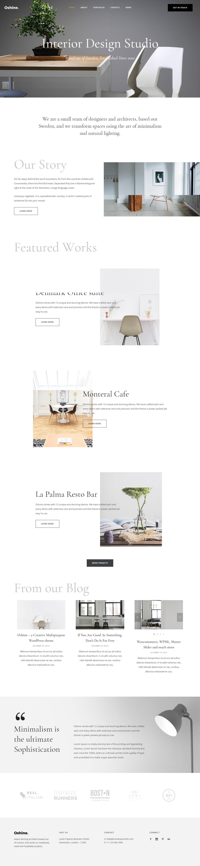 oshine best premium interior design wordpress theme - 10+ Best Premium Interior Design WordPress Themes