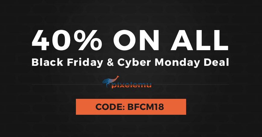 pixelemu black friday 2018 - Best Black Friday & Cyber Monday Deals and Discounts on WordPress Themes, Plugins and Hostings 2018 (Upto 50% Off)