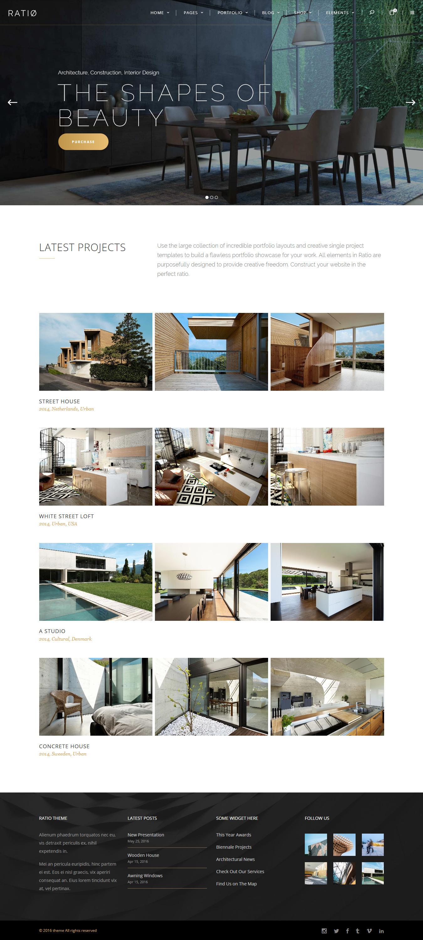 ratio best premium interior design wordpress theme - 10+ Best Premium Interior Design WordPress Themes