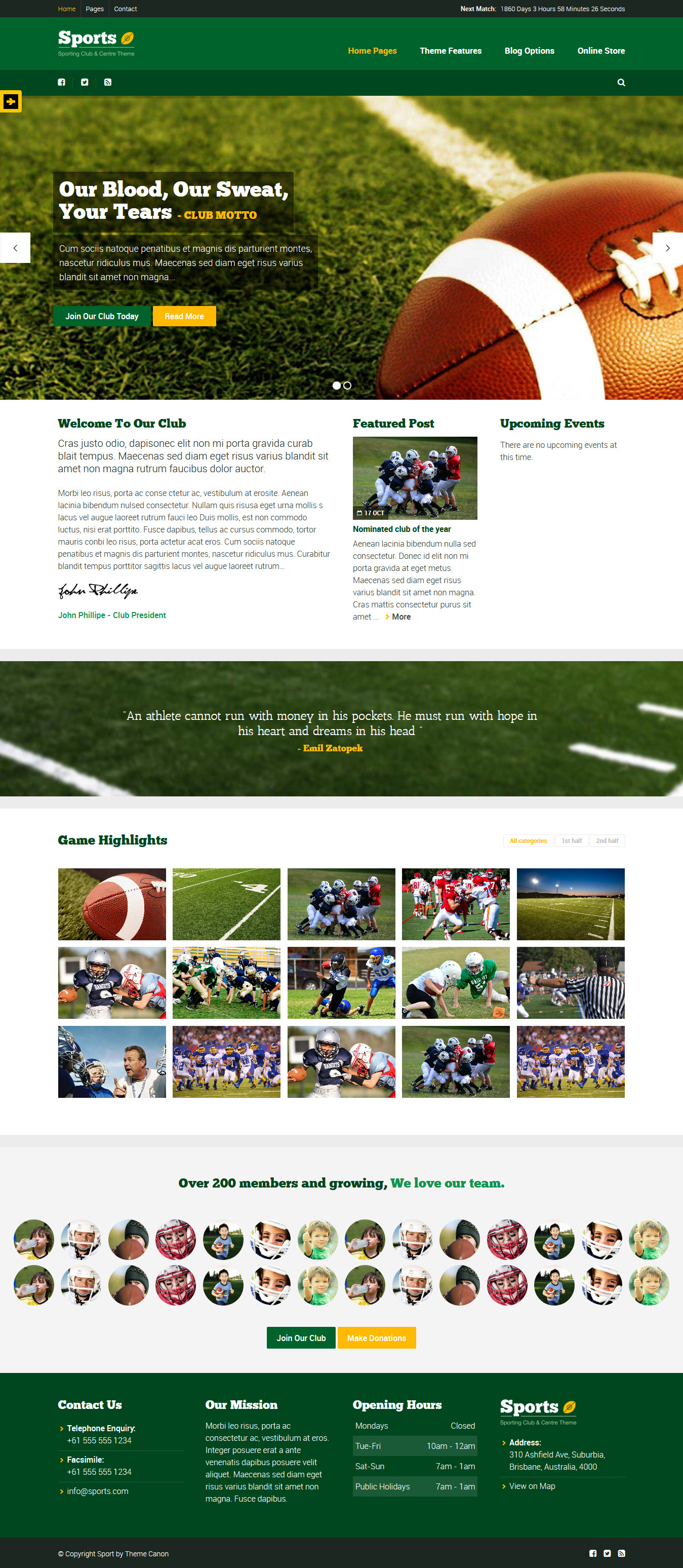 Sport - Best Premium Sports WordPress Theme