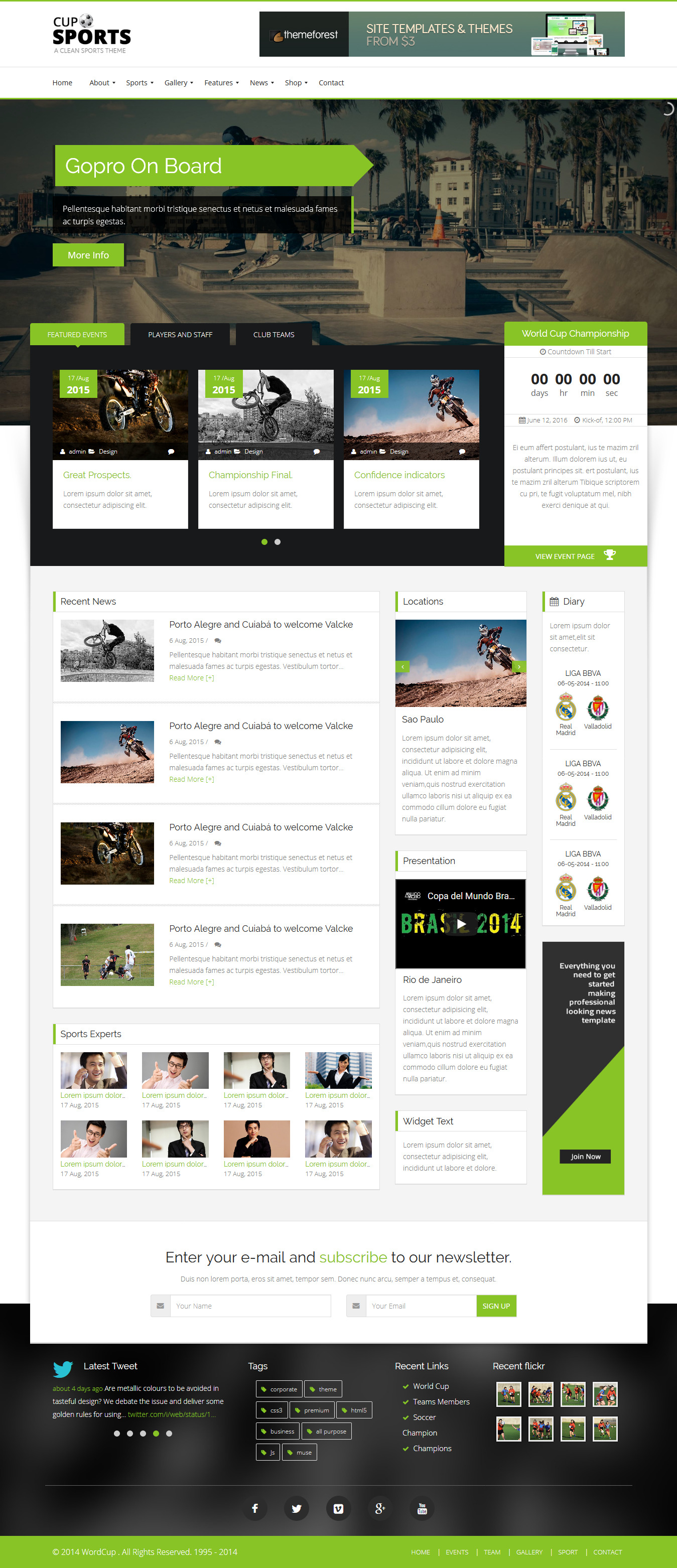 SportsCup - Best Premium Sports WordPress Theme