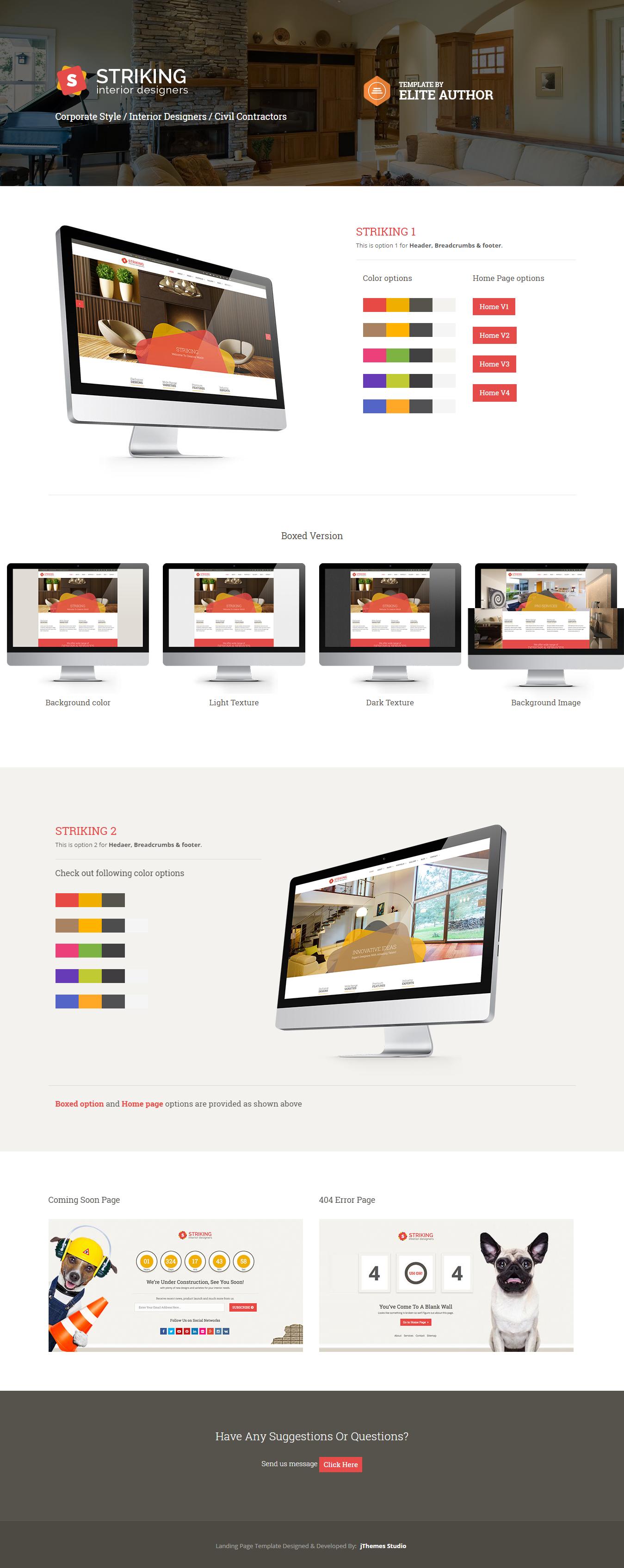 Striking - Best Premium Interior Design WordPress Theme