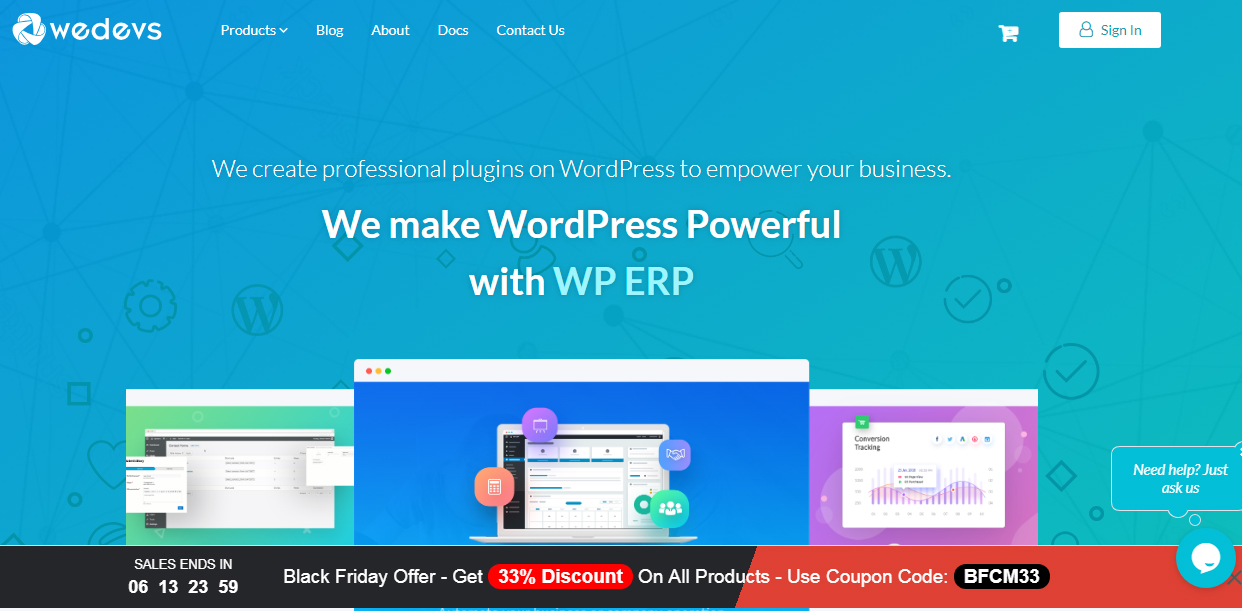 wedevs blackfriday cybermonday deals - Best Black Friday & Cyber Monday Deals and Discounts on WordPress Themes, Plugins and Hostings 2018 (Upto 50% Off)