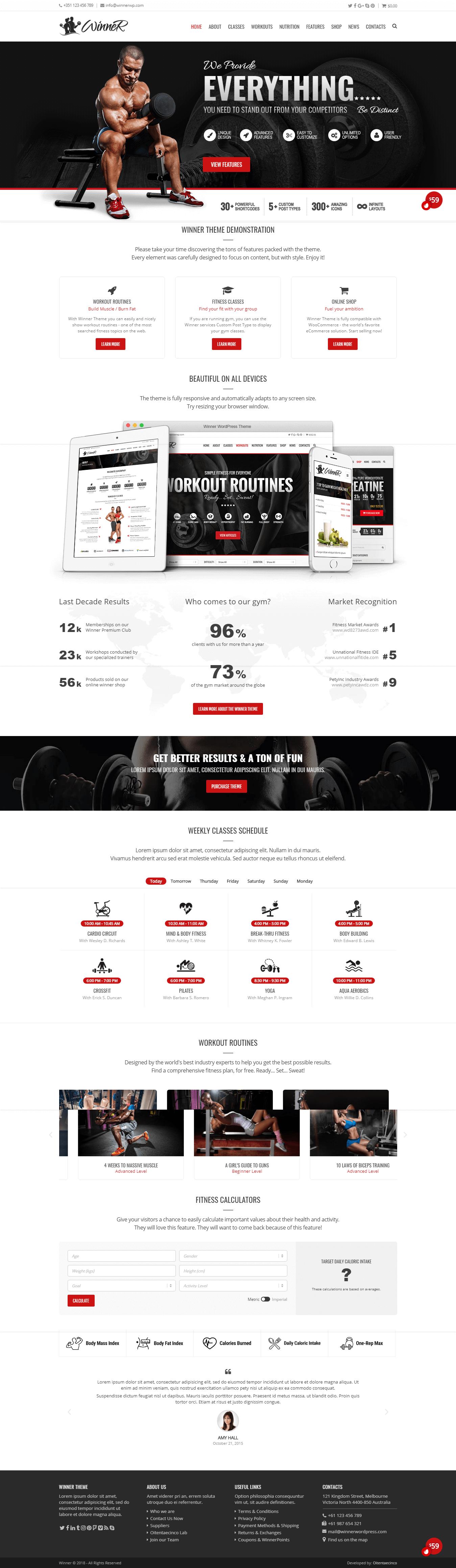 winner best premium sports wordpress theme - 10+ Best Premium Sports WordPress Themes